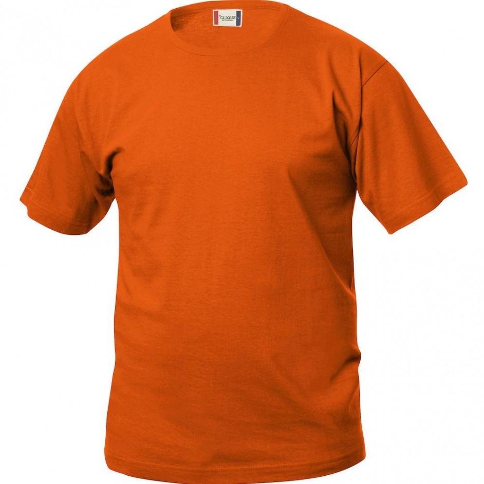 Clique Basic-T shirt Junior 029032 diep oranje 18