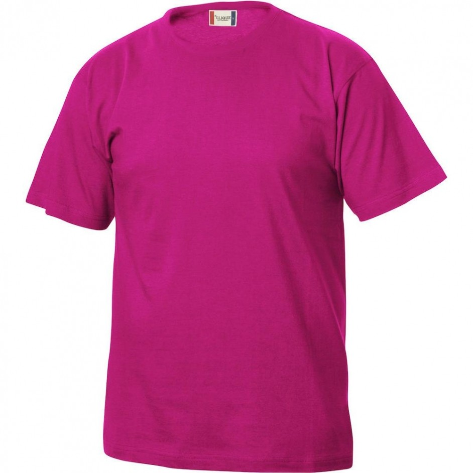 Clique Basic-T shirt Junior 029032 helder kersen 300