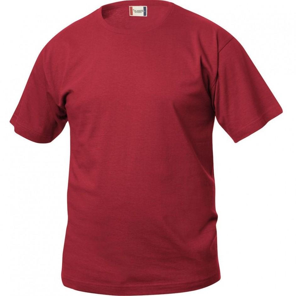 Clique Basic-T shirt Junior 029032 rood 35