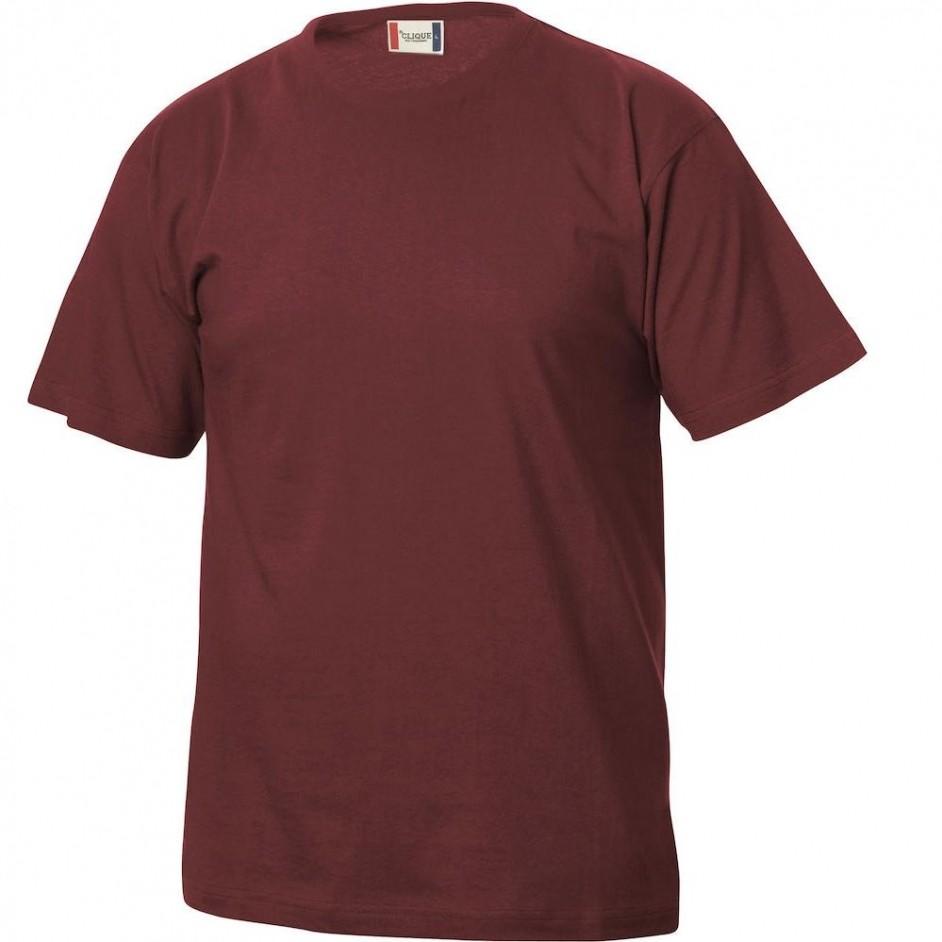 Clique Basic-T shirt Junior 029032 bordeaux 38