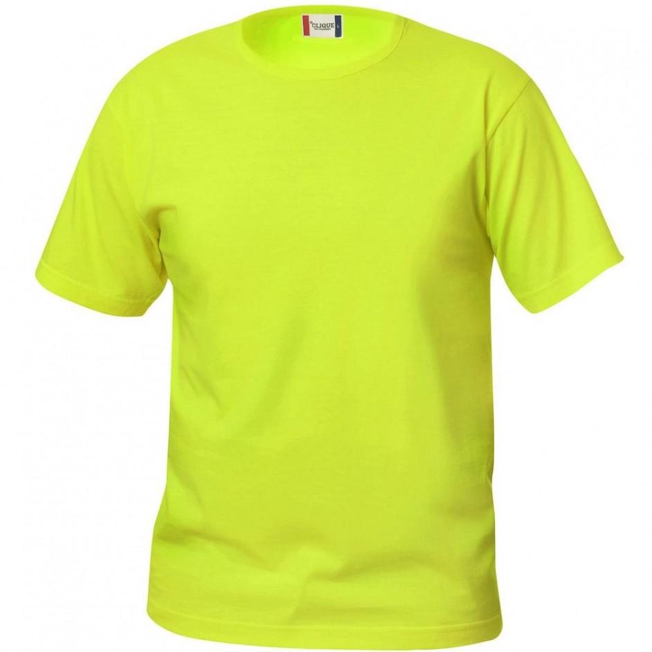 Clique Basic-T shirt Junior 029032 signaalgroen 600