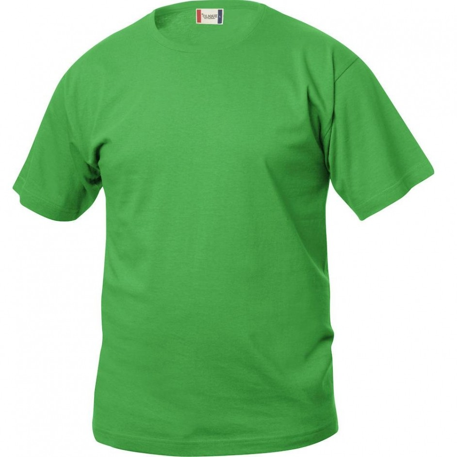 Clique Basic-T shirt Junior 029032 appelgroen 605
