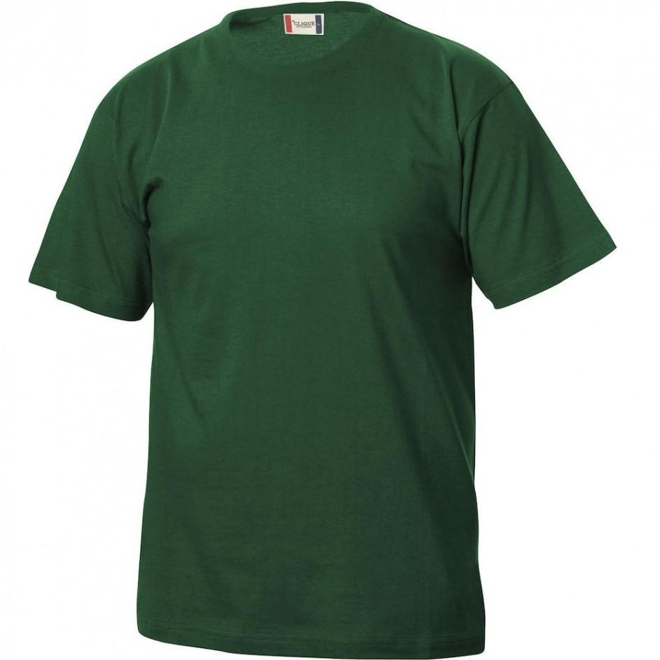 Clique Basic-T shirt Junior 029032 flessegroen 68