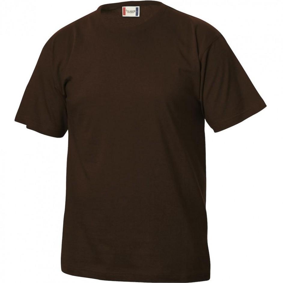 Clique Basic-T shirt Junior 029032 dark mocca 825