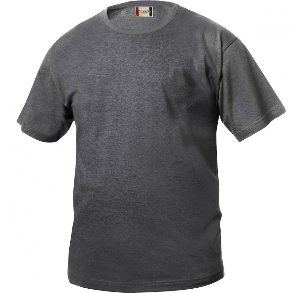 Clique Basic-T shirt Junior 029032 antraciet melange 955