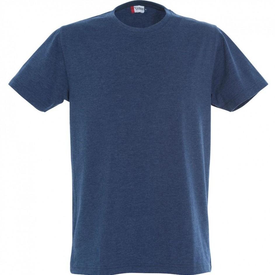 Clique New Classic-T shirt 29360 Melange blauw