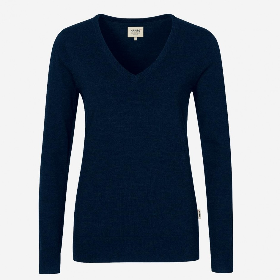 134 Dames Merino Wool V-Neck Pullover