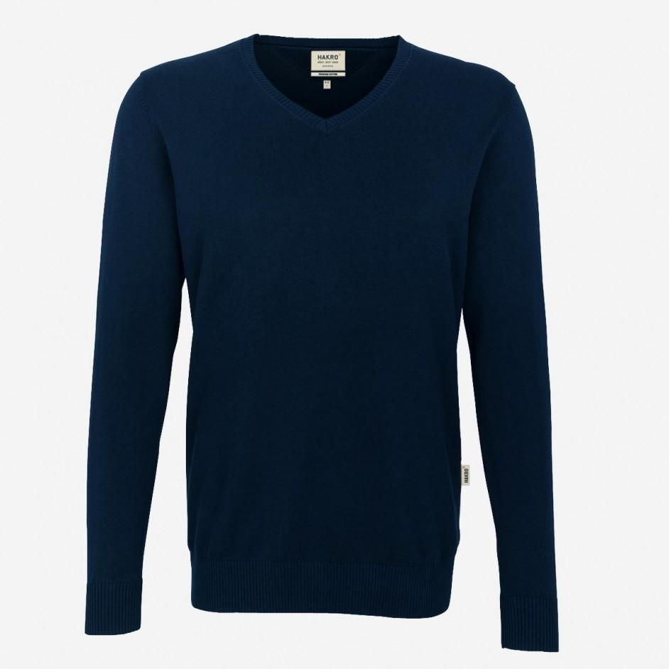 Hakro 143 Premium Cotton V-Neck Pullover