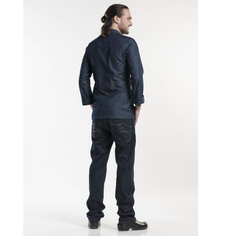 286 Chaud Devant Chef Jacket Parka Blue Denim Stretch