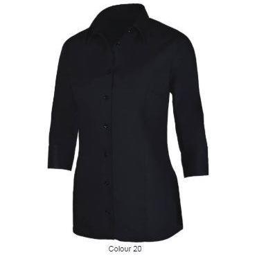 29341 Dames stretch blouse 3/4 mouw