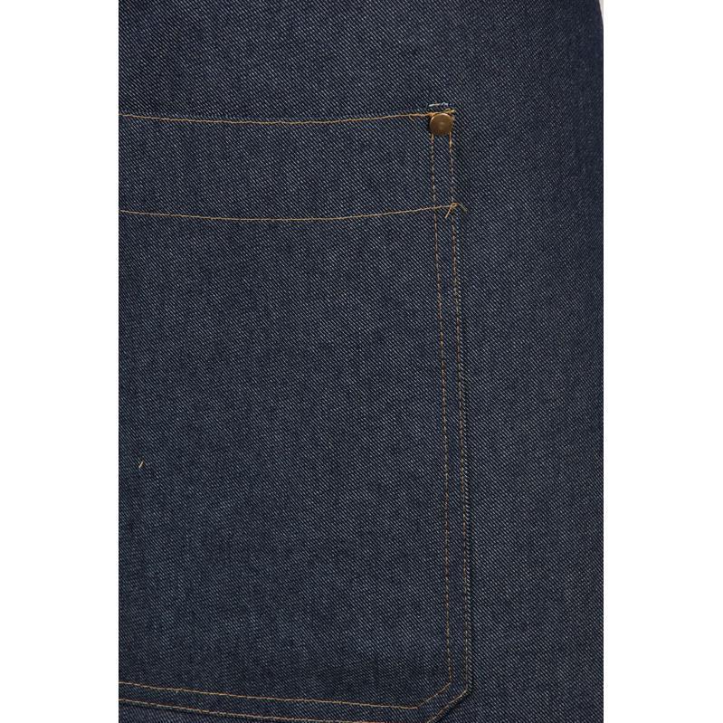 3402 Jeans / Denim loopsplit sloof jeans waar de split elkaar overlapt