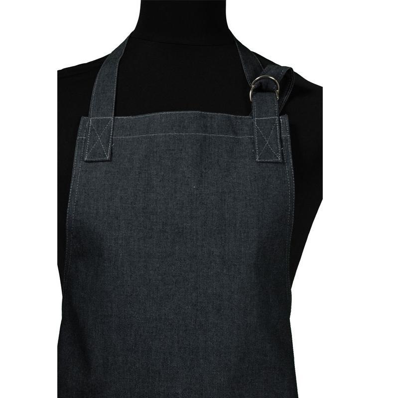 3600 Halterschort black jeans met ringen en dubbele zak