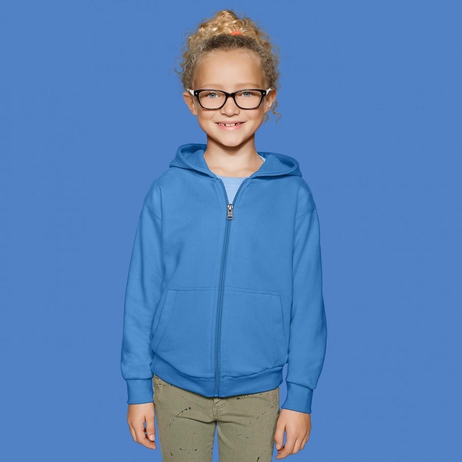 620 Hakro Kid's Premium Hooded Sweat Jacket