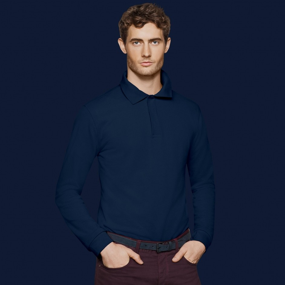 821 Hakro HACCP Long-sleeved Polo Shirt