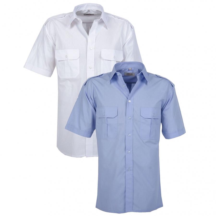 Pilothemd korte mouw