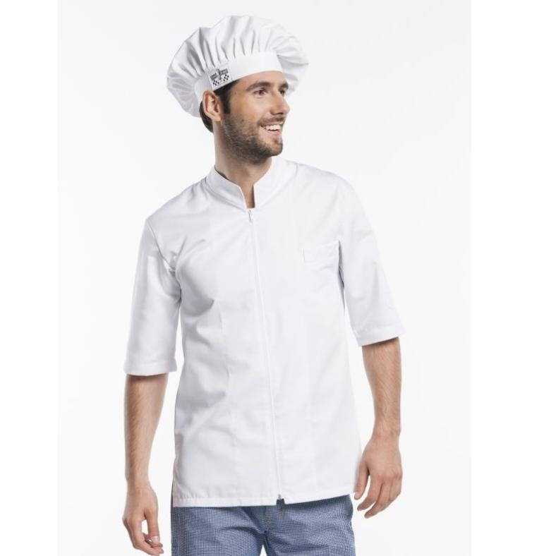 920 Chaud Devant Chef Jacket Monza White korte mouw