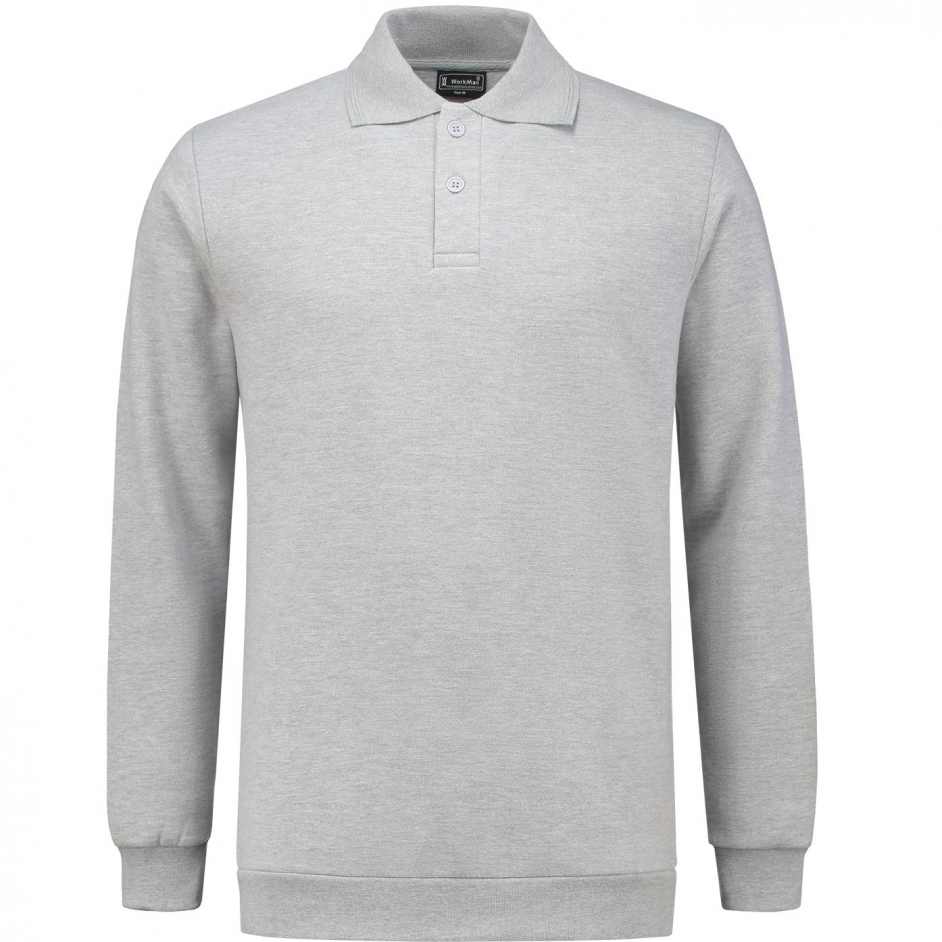 Polosweatshirt met boord