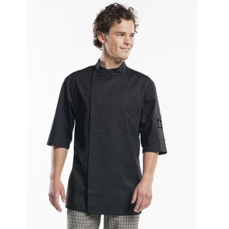 CHEF JACKET NOVA BLACK SHORT SLEEVE 942