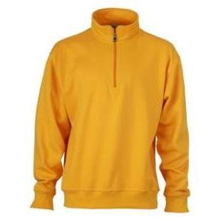 Zip Sweat Workwear goudgeel