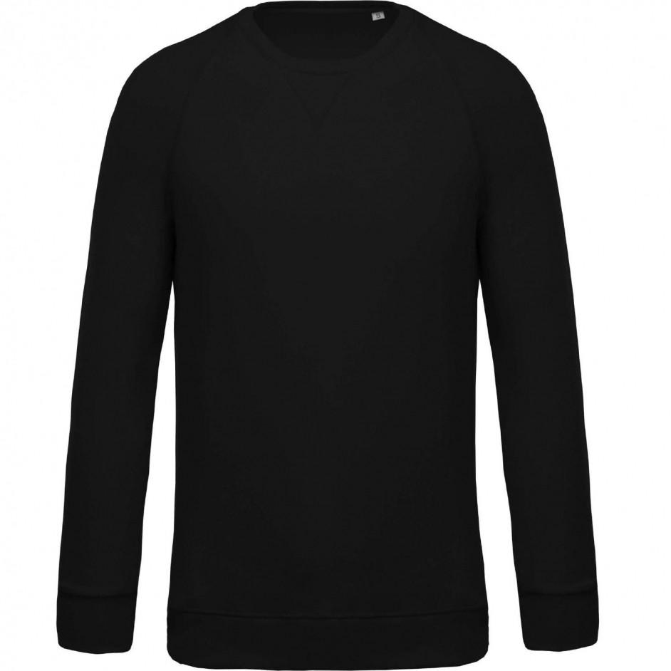 Sweatshirt with Organic Cotton zwart