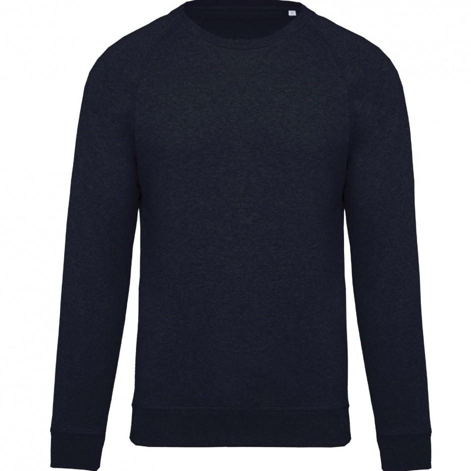 Sweatshirt with Organic Cotton French Navy Heather