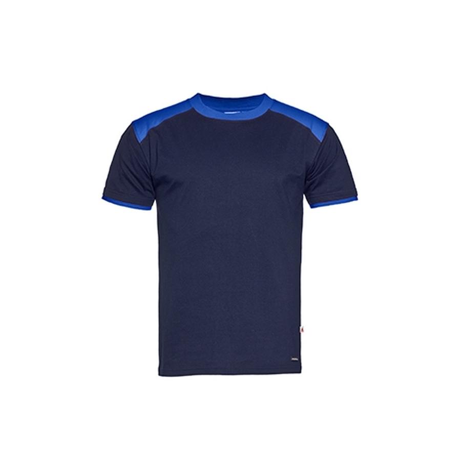 2-kleurig t-shirt. ronde halse korte mouw.
