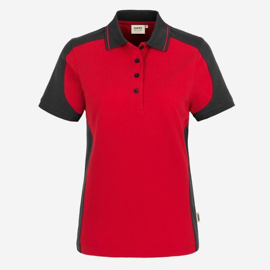239 Dames Poloshirt Contrast Performance