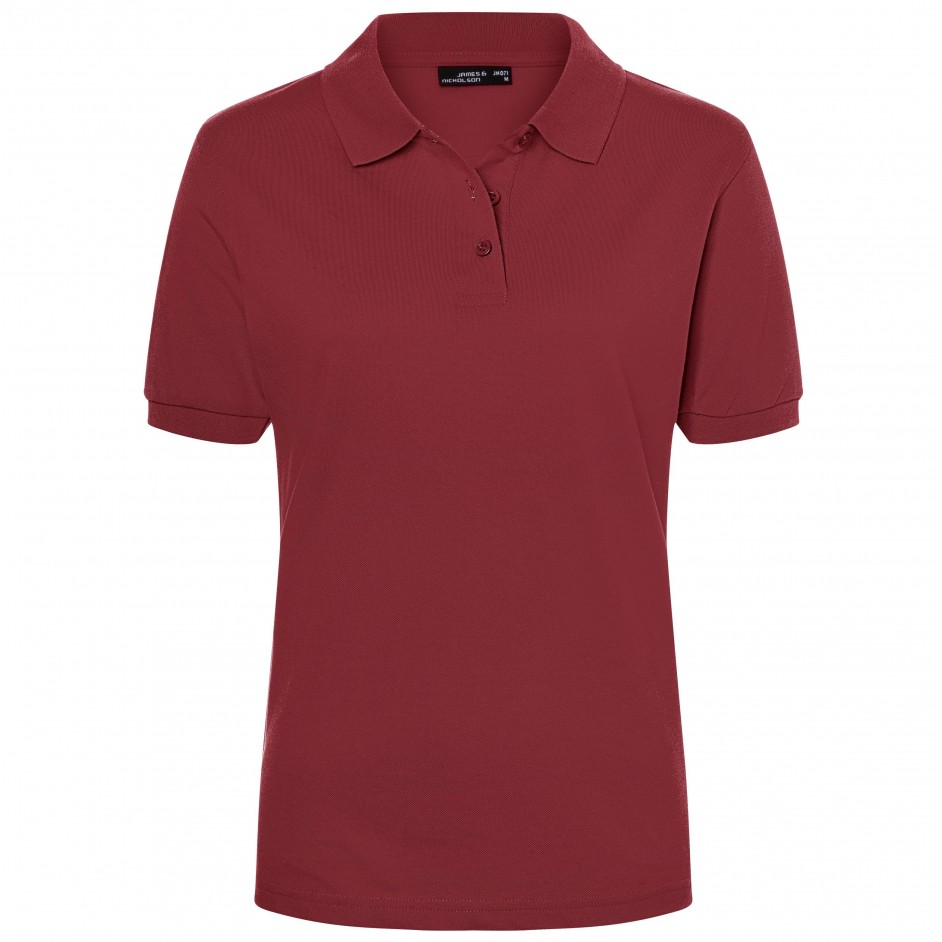 James & Nicholson Classic Polo Ladies JN071 bordeaux