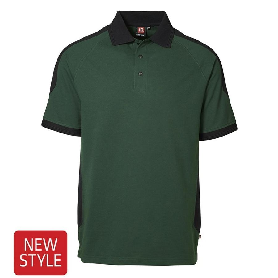 2-kleurig Poloshirt korte mouw