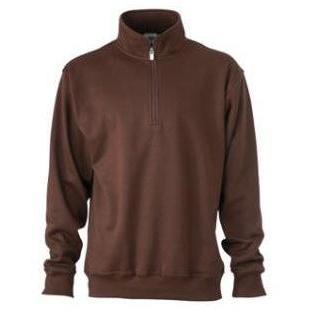 Zip Sweat Workwear bruin
