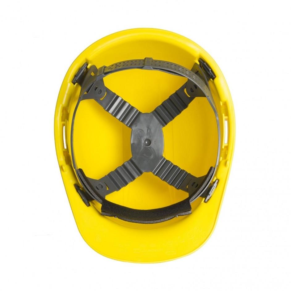 Edge Whistler 4 punts veiligheidshelm in geel