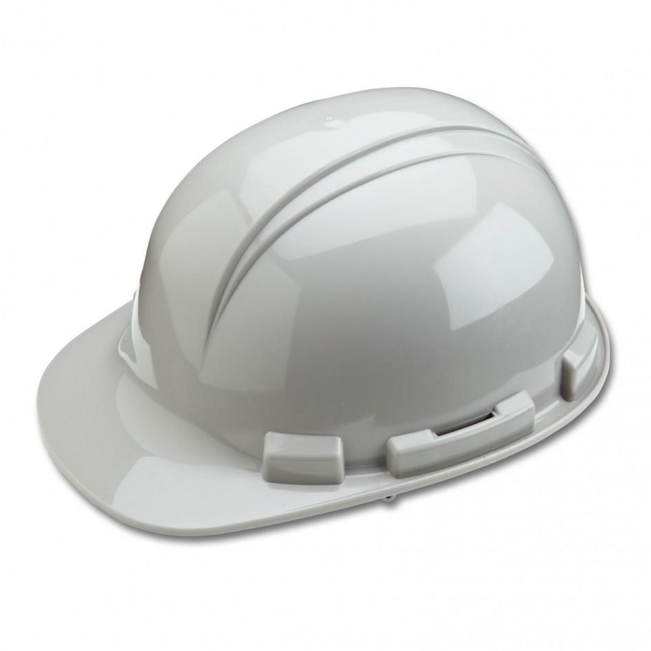 Whistler H241R 4 punts veiligheidshelm met draaikop en zweetband in grijs