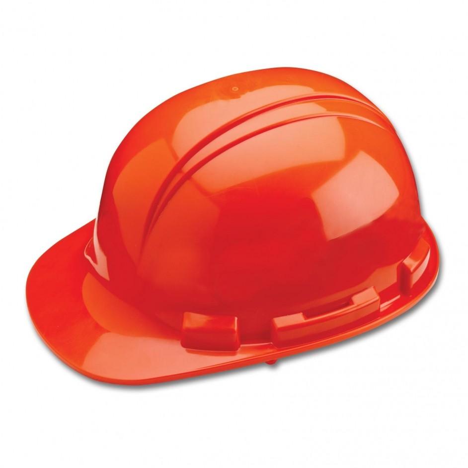 Whistler H241R 4 punts veiligheidshelm met draaikop en zweetband in oranje