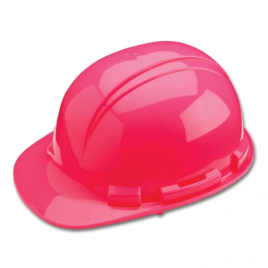 Whistler H241R 4 punts veiligheidshelm met draaikop en zweetband in roze