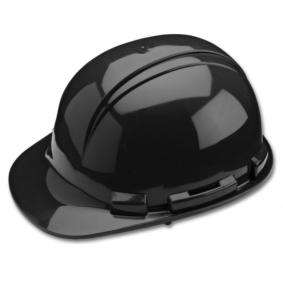 Whistler H241R 4 punts veiligheidshelm met draaikop en zweetband in zwart