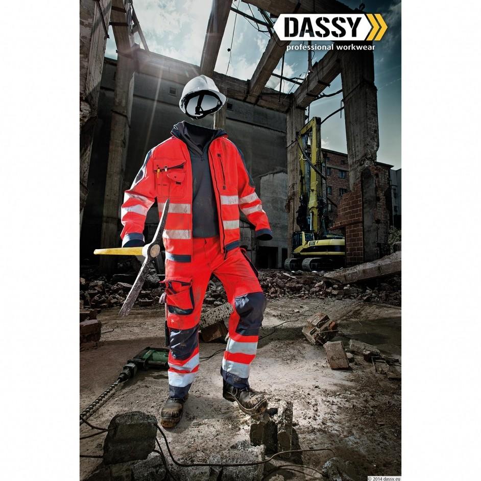 Dassy Chicago hoge zichtbaarheidswerkbroek met kniestukken