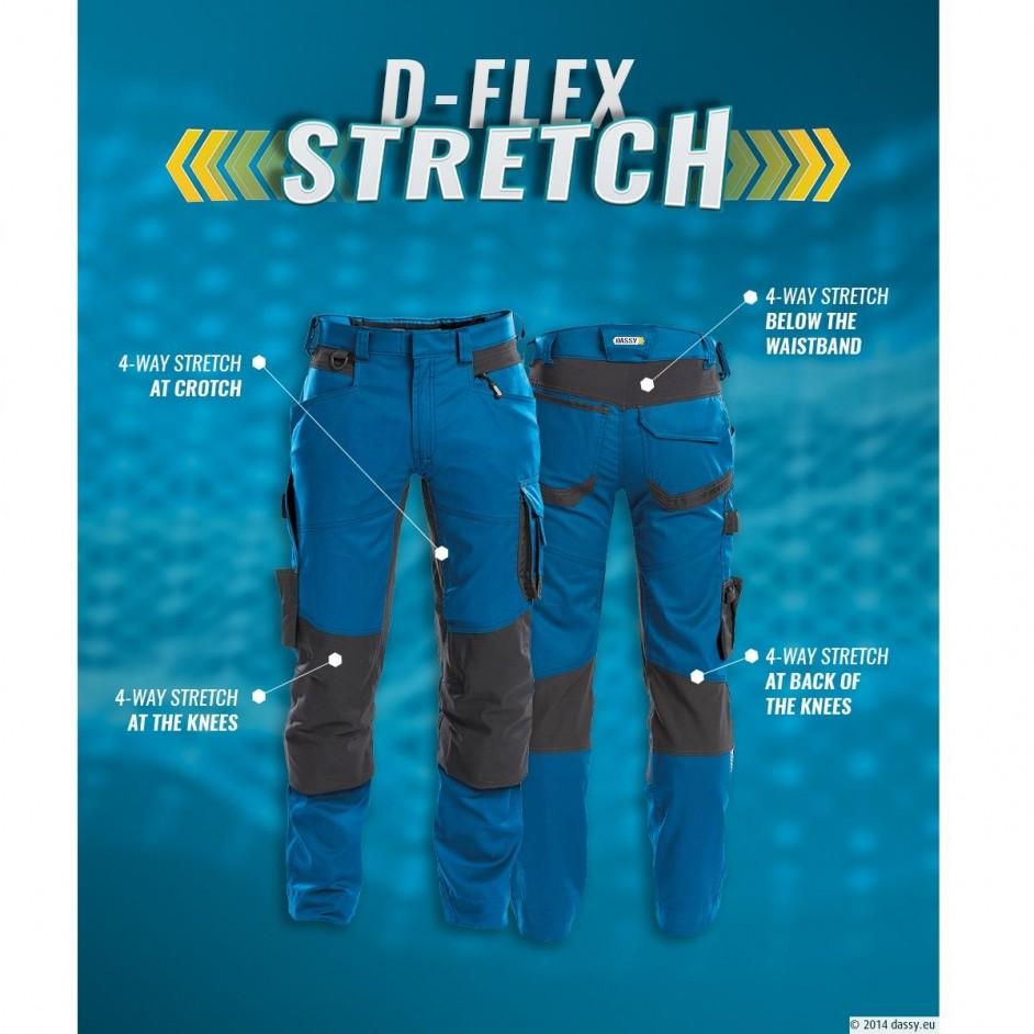 Dynax stretch werkbroek met kniestukken 200980