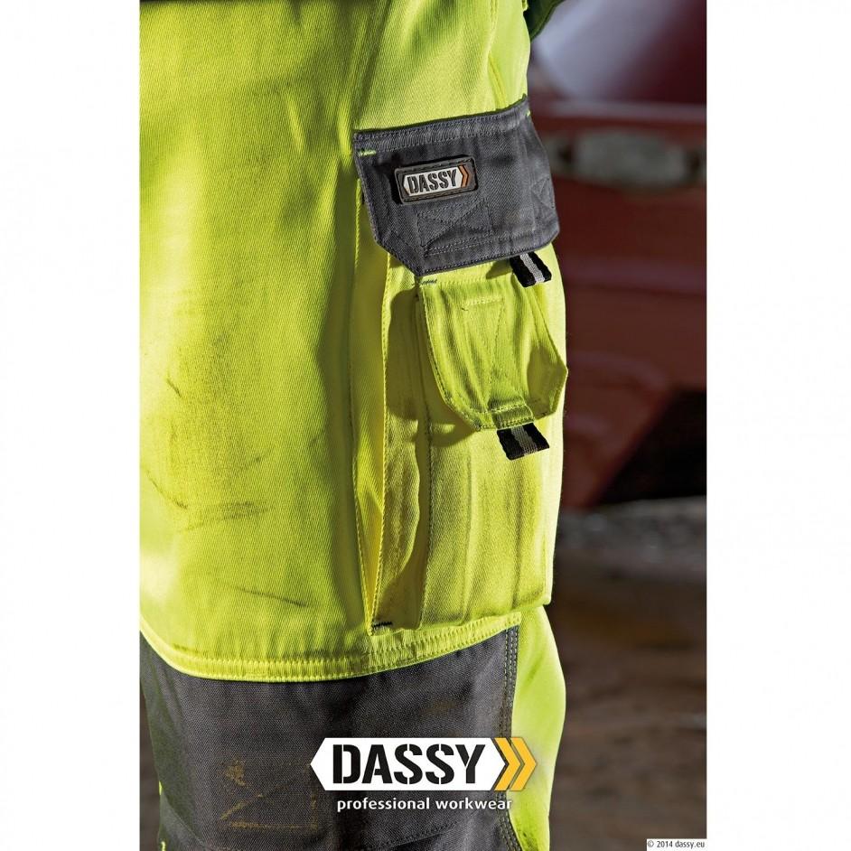Dassy Glasgow hoge zichtbaarheidswerkbroek met holsterzakken
