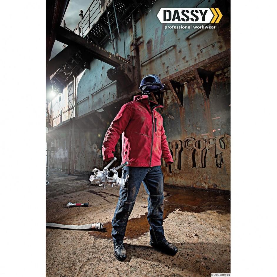 Dassy Knoxville denim werkbroek met kniestukken