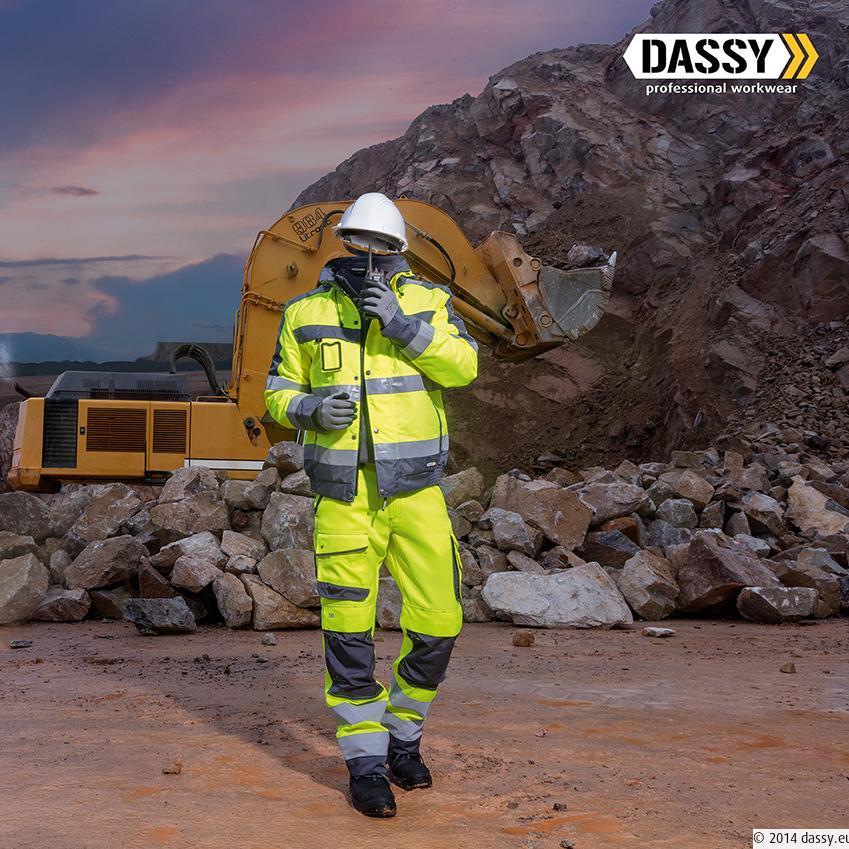 Dassy Lima hoge zichtbaarheidswinterjas