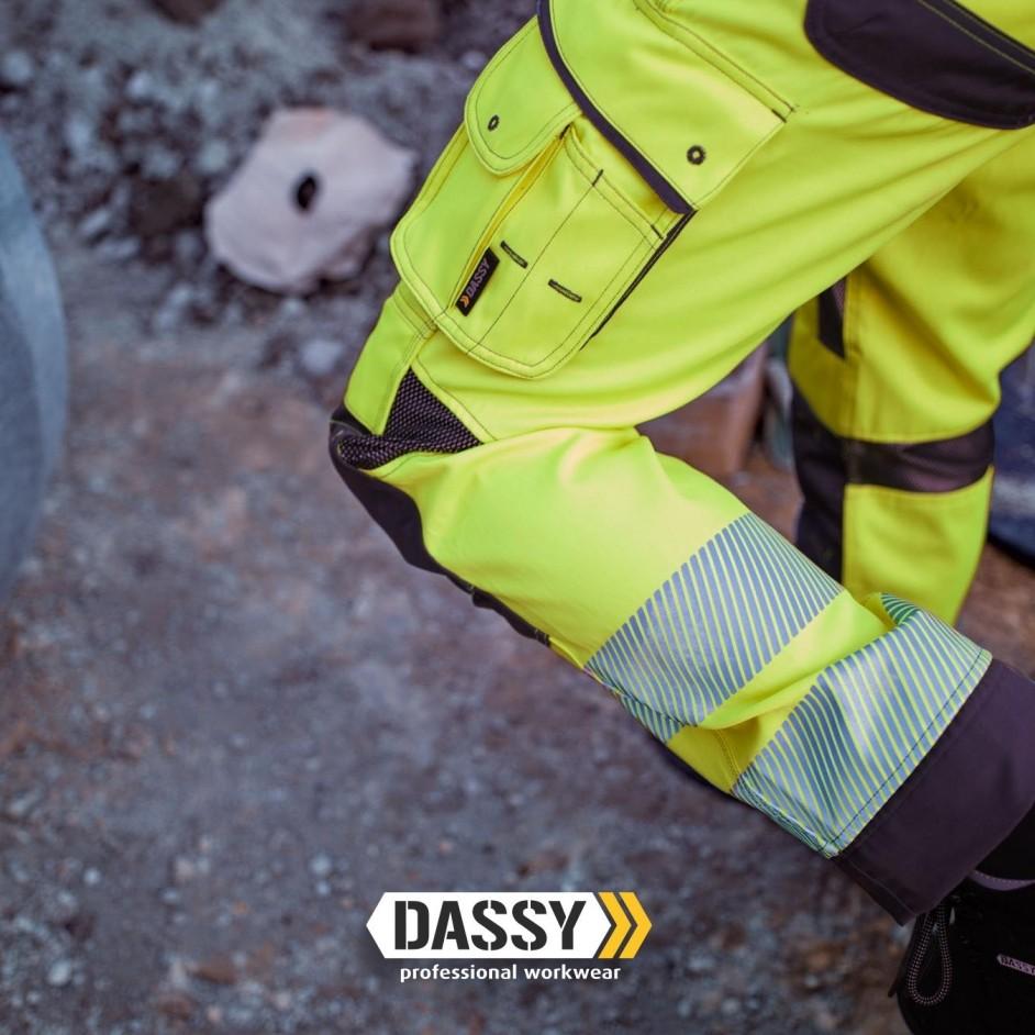 Dassy Odessa hoge zichtbaarheidsbroek met kniestukken