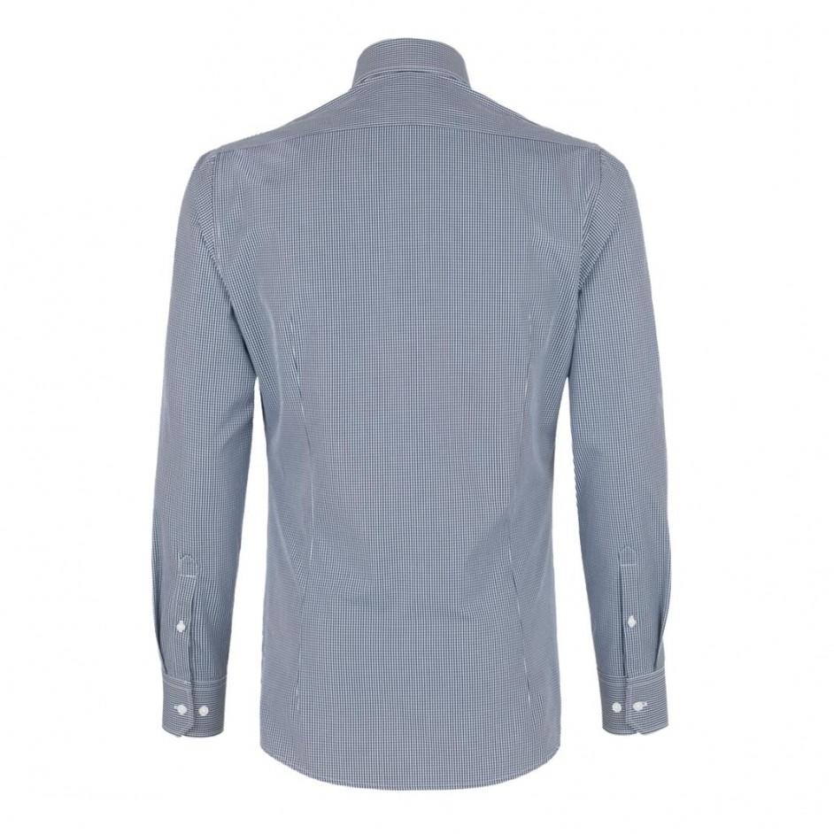128 Long-Sleeved Vichy Checked Shirt Comfort Hakro