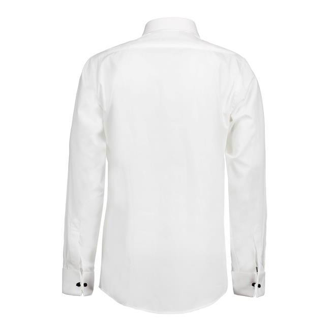 SS161 Poplin Tuxedo Lange Mouw | Slim Fit