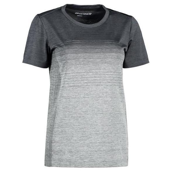 ID Geyser Dames Naadloos Gestreept T-shirt