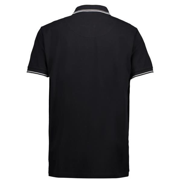 ID Heren stretch polo met contrast 0522