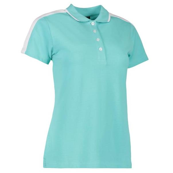 ID Dames polo shirt met contrast 0531