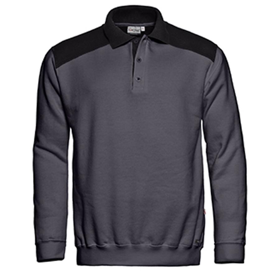 Polosweatshirt met contrast