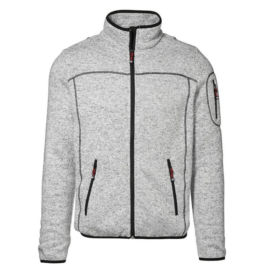 Gebreid Fleece Vest, LM, met contrasterende stiksels