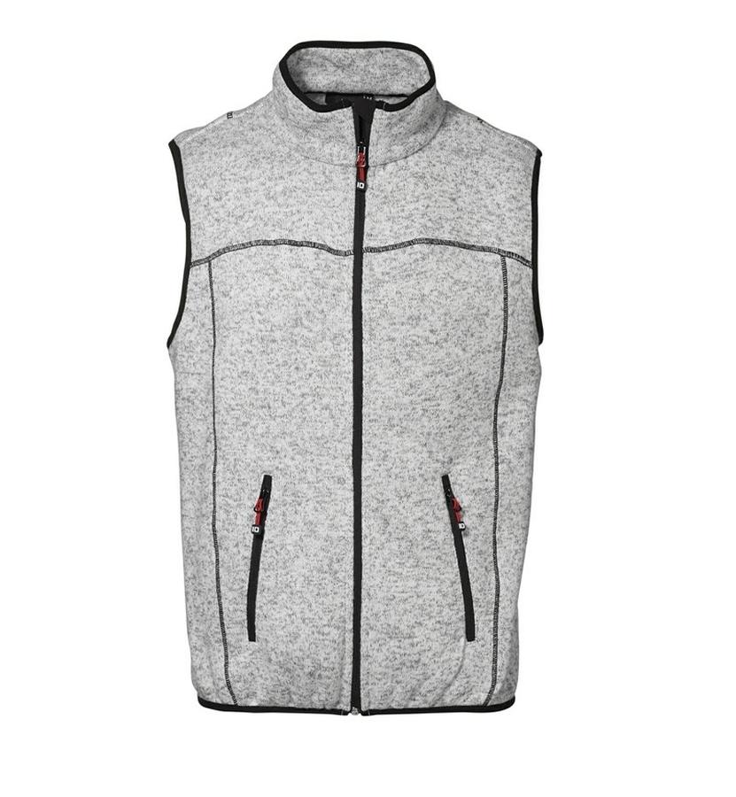 Gebreid mouwloos FLEECE Vest met contrast stiksels