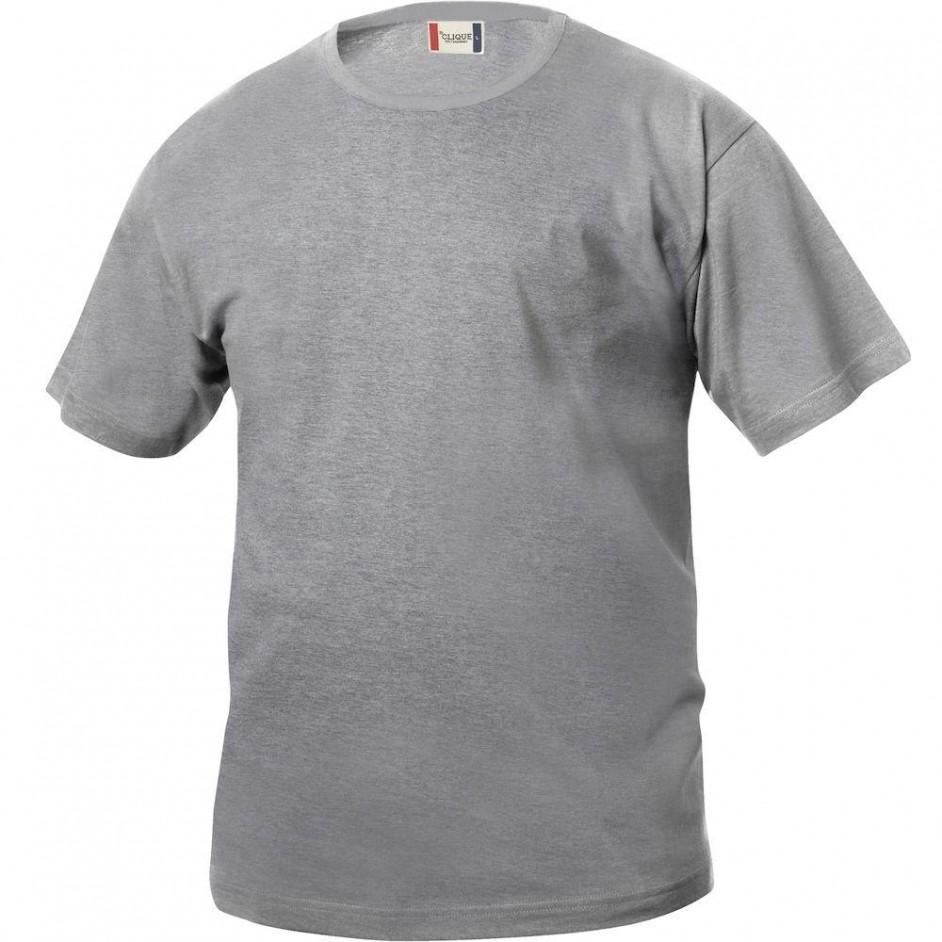 Clique Basic-T shirt Junior 029032 grijs melange 95